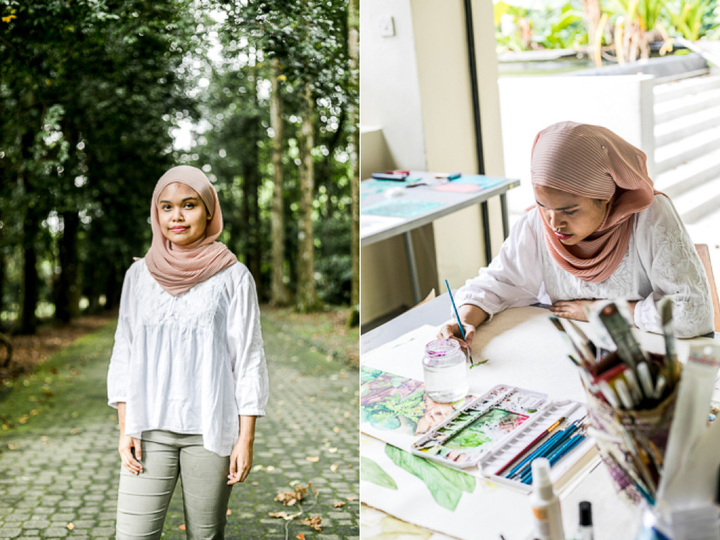 Syarifah Nadhirah, author and illustrator of The Forgotten Tastes